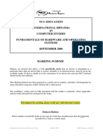 Marking Scheme NCC IDCS Fundamentals of Hardware & OS System Sep 2008