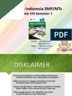 Power Point Pembelajaran Bahasa Indonesia VIII A