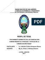 Tratamiento Normativo Cuentas x Cobrar Respecto a Pasajes y Viaticos de La Camara de Diputad 2017