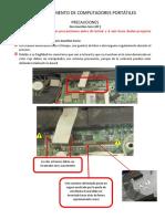 Precauciones y Procedimiento de Desensamble y Ensamble de Hp 6715bv2
