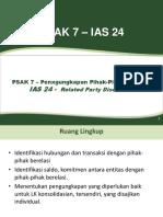 PSAK 7 Pengungkapan Pihak Berelasi 06022017