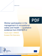 Worker Participation in the Management of OSH – ESENER 2 - Country Report - Greece