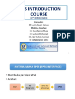 SPSS Introduction Course at PSB, UUM