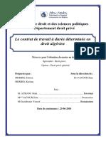 Le contrat de travail à durée déterminée en droit algérien.pdf