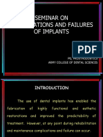 Complication & Failure of Implants SEM