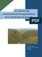 Informe Técnico Levantamiento Fotogrametrico Quebrada Cocotog