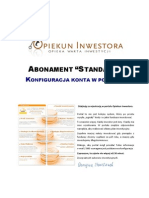 Abonament Standard - Konfiguracja