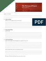 20120929 Thepersonofprayer Notes
