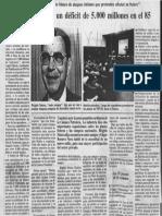 PDVSA tendrá deficit de 5.000 millones en 1985
