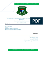 An Analysis on the Role of Bangladesh Army in United Nations Peacekeeping Operations