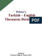 Websters Turkish - English