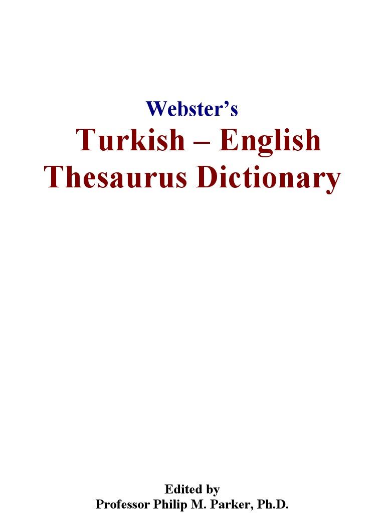 Websters Turkish English | English Language | Dictionary