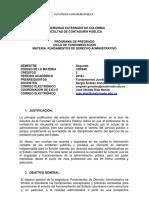 Fundamentos de Derecho Administrativo 2018 I