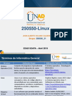 Diapositivas Trabajo Uno Reconocimiento Del Entorno Linux.