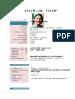Curriculum Gloria Lopez Pinzon