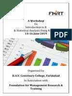 Brochure - Workshop on R