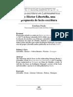 Héctor Libertella, una propuesta de lecto-escritura