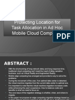 IEEE Project PPT, Protecting Location Privacy for Task Allocation in AdHoc Mobile Cloud Computing