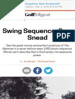 Swing Sequence Sam Snead
