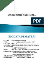Biodata Pemateri
