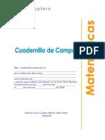 Cuadernillo de Campo de Matematicas No. 1