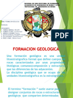 FORMACIÓN GEOLÓGICA