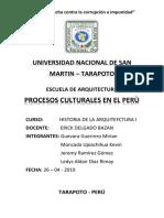 Periodos Culturales en Perú Grupo 1