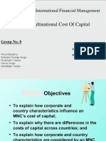 Multinational-cost of Capital