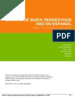 Manual de Buick Rendezvous 2002 en Espanol