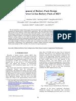 Liion Battery Pack Development