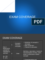 Exam Coverage