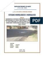 Hidrologia y Drenaje Huanta