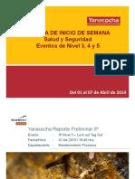 Eventos de Nivel 3,4,5 Del 01 Al 07 de Abril Del 2019
