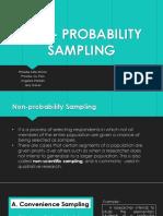 Non Probabilty Sampling
