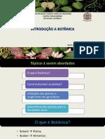 1. Introdução a Botânica