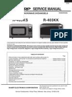 Microondas Sharp R-403kk 405ks