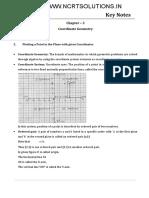 Maths Key Notes Coordinate Geometry