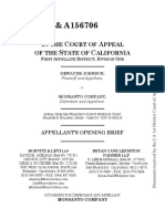 Monsanto's Opening Appeal Brief in Dewayne Johnson case re glyphosate