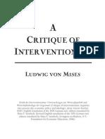 Ludwig Von Mises - A Critique of Interventionism