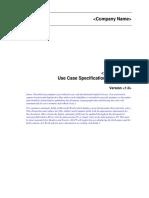 Use Case Specification Registro