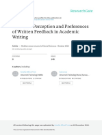 Tom Et Al 2013 Students' Perceptions & Preferences of Written Feedback in Academic Writing