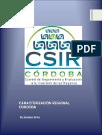Caracterización Regional Córdoba - 02 DIC 2016 - V1