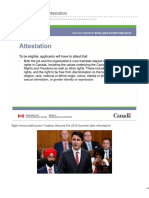 2018 Summer Jobs Attestation - Letter to The Right Honourable Justin Trudeau
