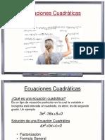 Ecuaciones e Inecuaciones Cuadraticas