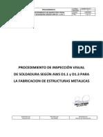 Gqaqc-pro-011 Procedimiento de Inspección Visual en Aws d1.1 y d1.3 Rev 1 (1)