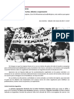 Feminismo en Argentina de Luchas Debates y Organización UFA