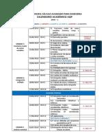 Calendario Academico CAI-1