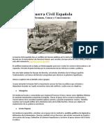 Resumen Guerra Civil Española