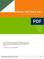 Manual Fiat Idea 2007