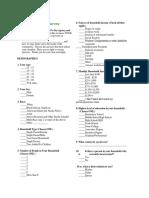 overview inc - survey form